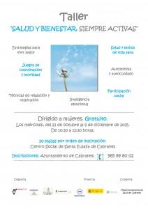Cartel Taller Salud y Bienestar Cabranes 2015