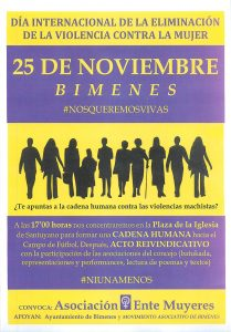 CARTEL ACTOS 25-N BIMENES