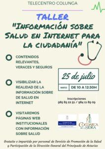 Copia de TALLER GRATUITOInformación sobre Salud en Internet para la ciudadanía.